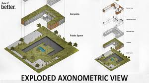 watched good exploded axonometric view in photoshop using