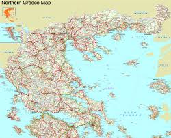 northern map northern greece map to in high resolution greeka com