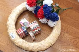 wreath supplies diy patriotic wreath how to nest for less