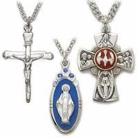 catholic necklace cross necklaces gold crosses religious jewelry