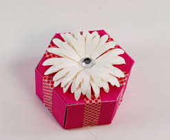 decorative paper boxes how to make a hexagon shaped gift box