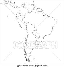 america map political blank stock illustration blank south america map clipart