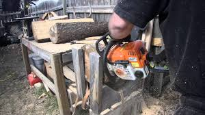 diy how to make a simple log bench youtube