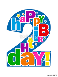 2 year birthday happy 2nd birthday card second two years you re 2 today