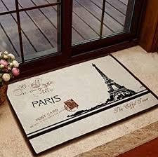 Retro Kitchen Rugs Amazon Com Retro Paris Eiffel Tower Home Floor Mat Rug Door Bath