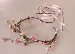 blossom fairy crown woodland hair wreath bridal halo flower wreath
