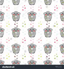 seamless vector pattern kawaii anime style stock vector 376738822