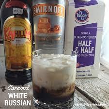 if you a caramel macchiato then the caramel white russian