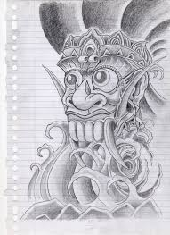 barong tattoo design by campfens on deviantart