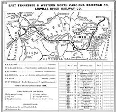 Tennessee City Map by The East Tennessee U0026 Western North Carolina Railroad