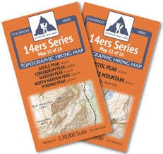 Map Of Colorado 14ers by Amazon Com Colorado 14ers Series Elk Mountains Map Pack Sports