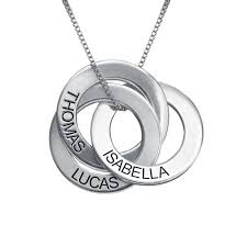 engravable necklace russian ring necklace with engraving mynamenecklace