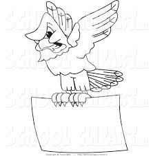 clip art of a coloring page of a bald eagle hawk or falcon flying
