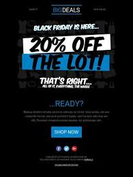 black friday email template pick an email template and start designing bee free the email