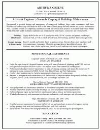 Landscaping Resume Samples by 10 Building Maintenance Resume Examples Resume Maintenance Resume