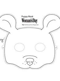 halloween crafts printable puppy face mask womansday
