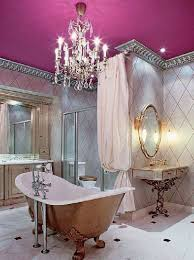 fuschia chandelier decorating ideas for bathrooms with fuschia ceiling and chandelier