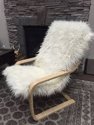 Rocking Chair Cushions Ikea Sheepskin Faux Fur Ikea Poang Rocking Chair Cushion Cover