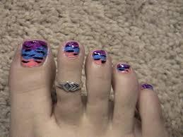 color blocking glittery zebra fun summer toenail tutorial youtube