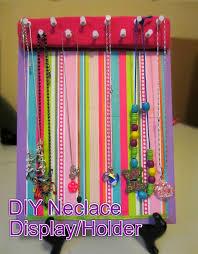 make necklace holder images Diy necklace holder display easy jpg