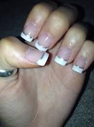 prom french tip acrylic nails prom ideas pinterest makeup