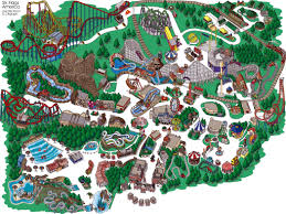 Six Flags Illinois Six Flags Great America Theme Park Map Gurnee Il Mappery And