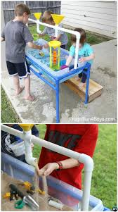 diy sand and water table pvc 20 pvc pipe diy projects for kids fun