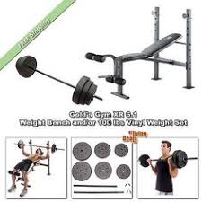 Weight Set With Bench For Sale Weight Sets 179818 Weight Bench W 80 Lb Weight Set Bar Strength