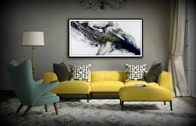 Modern Wall Art Black And White Wall Art Gift Abstract Painting Print Canvas