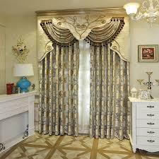 high end european work jacquard knit window blackout curtain for