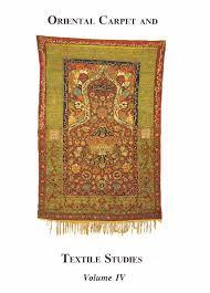 Rug Iv Classification System Oriental Carpet Textile Studies Abebooks