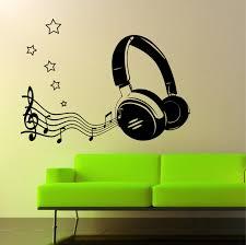 the grafix studio scary dinosaur wall art sticker vinyl 07 headphone music notes wall art sticker