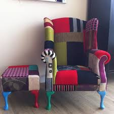 Patchwork Upholstered Furniture - home design patchwork chairs home design staggering images iaqmex