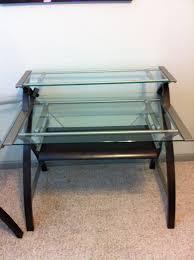 3 piece glass desk sharper image glass desks starting at 175 stuff for sale