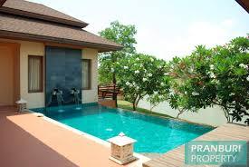 lake side villa for sale near beach in hua hin balinese style