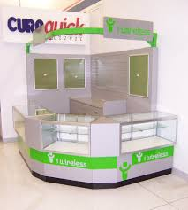 merchandise display case retail kiosk for wireless cell phone shopping mall merchandising