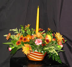 thanksgiving williamsburg fall centerpiece with candle arrangement williamsburg floral