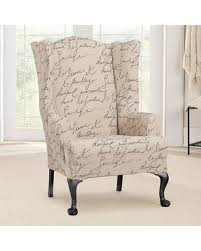 wingback chair slipcovers don t miss this bargain sure fit waverly stretch pen pal wing chair