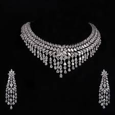 best diamond necklace images American diamond necklace set at rs 1500 set stellar jeevan jpg