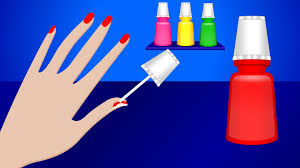 learn colors with nail art colours to kids children toddlers
