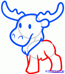 how to draw a moose for kids step by step animals for kids for