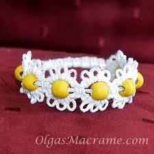 macrame flower bracelet images Macrame flower bracelet elastic jpg