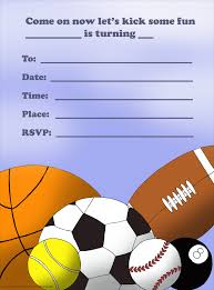 Design For Birthday Invitation Card Various Sport Ball Themed Birthday Invitation Card Design For Boys