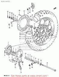 suzuki rm125 1983 d rear wheel schematic partsfiche
