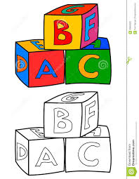 colorful cubes with letters such as coloring books for children