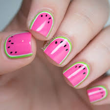 watermelon nail art french tip nail art designs further copper