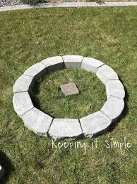 How To Install A Paver How To Build A Diy Fire Pit For Only 60 Keeping It Simple Crafts