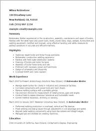 Welder Resume Objective Professional Boilermaker Welder Templates To Showcase Your Talent