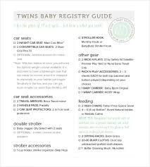 gift register baby registry checklist templates 12 free word excel pdf