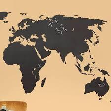 chalkboard world map vinyl wall decal wall murals you u0027ll love